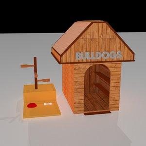 3D dog house model