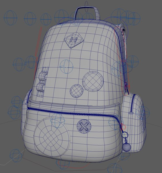 backpack zips rigs 3D