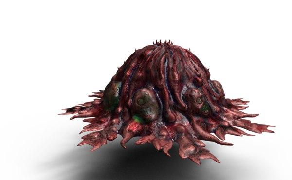 3D alien zombie egg