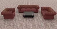 leather sofa and chairs