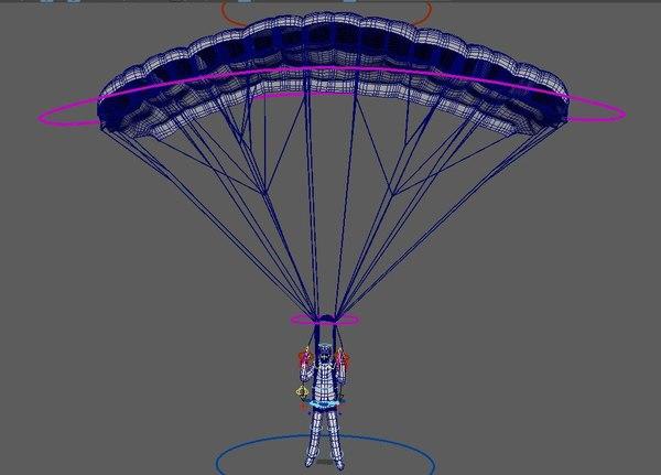 parachuter 3D model