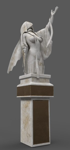3D statue female mythic