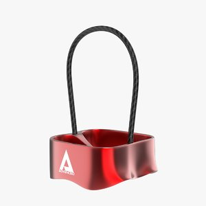 3D atc-guide belay device model