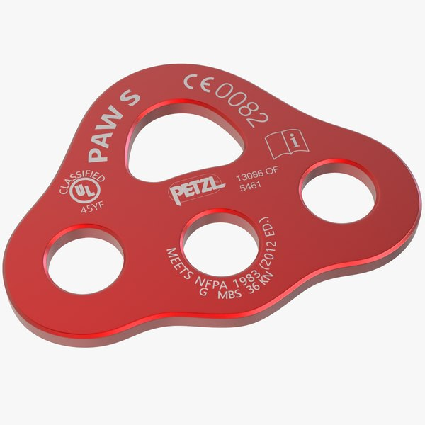petzl paw rigging plate 3D model
