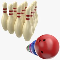 Bowling Balls With Pins