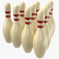 real bowling pins 3D model