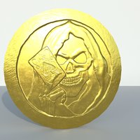 3D model old gold coin
