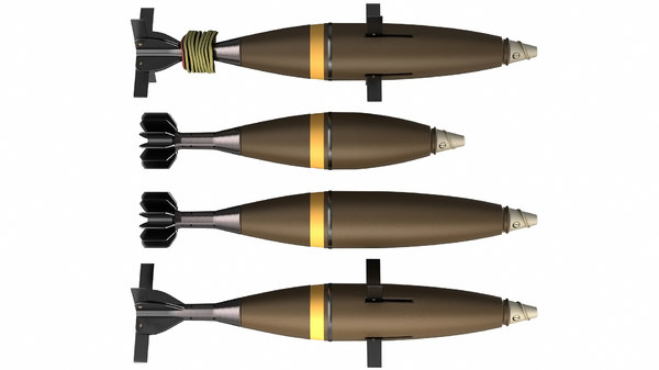 3D model mortar shells