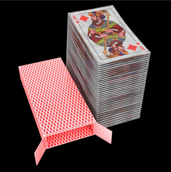 3D cards deck