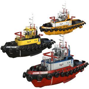 vessels ports 3D model
