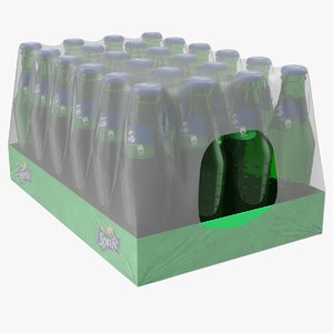 3D 24 sprite bottle package