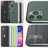 iphone 11 pro color 3D model