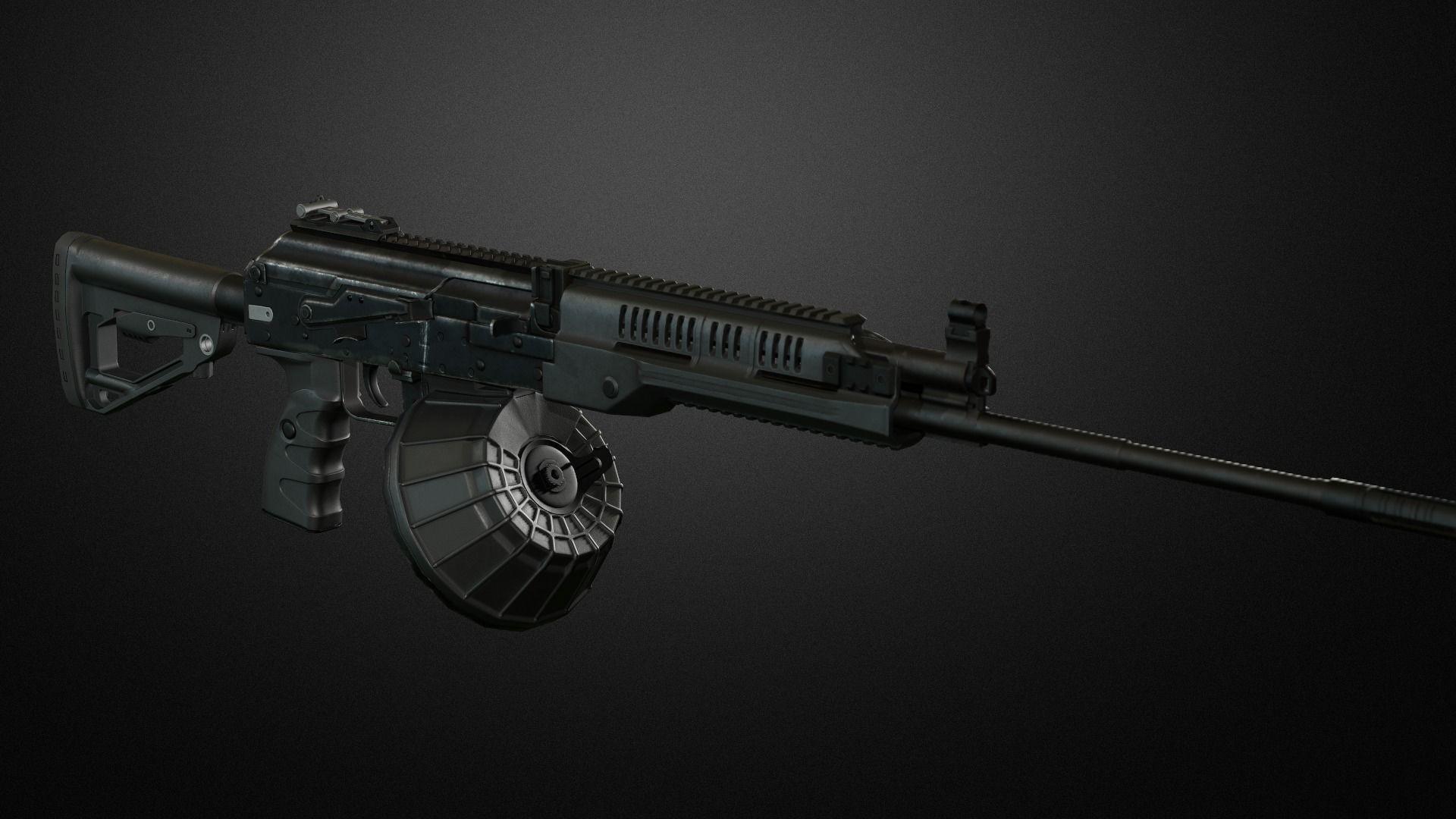 rpk-16 machinegun 3D model
