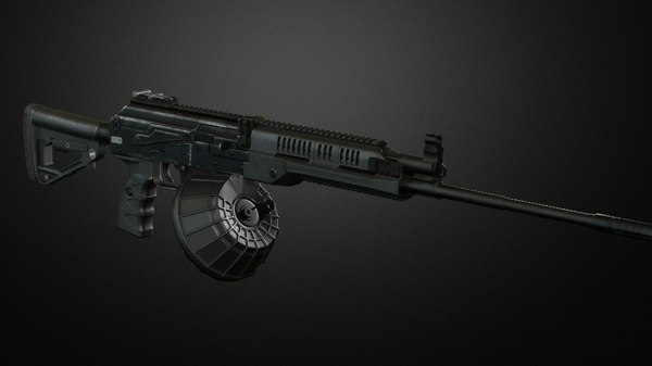 rpk-16 machinegun 3D model