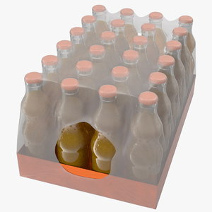 24 orange glass bottle 3D model