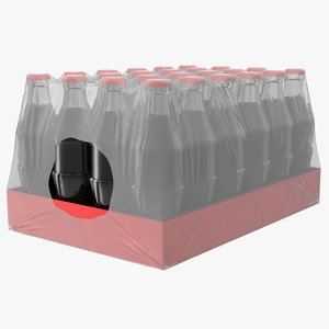 3D 24 soda glass bottle model