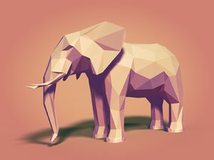 african elephant 3d x
