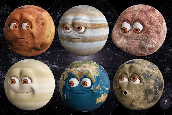 planets solar 3D