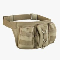 realistic waist bag coyoye model