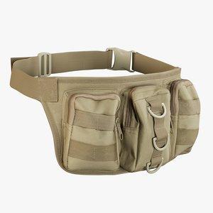 realistic waist bag coyoye model