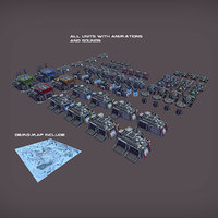 RTS Sci-Fi game assets v3