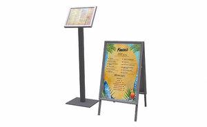 3D menuboards menu