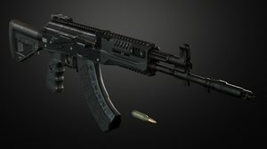 assault rifle 3D