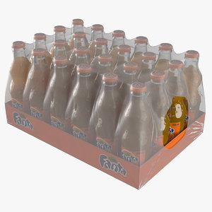 24 fanta glass bottle 3D model