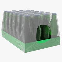 24 green soda bottle 3D