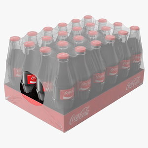 3D coca cola glass bottle model