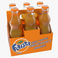 fanta bottle package 3D model