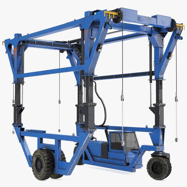 straddle carrier rigged 3D model
