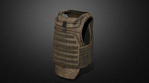 army vest 05 ar 3D model