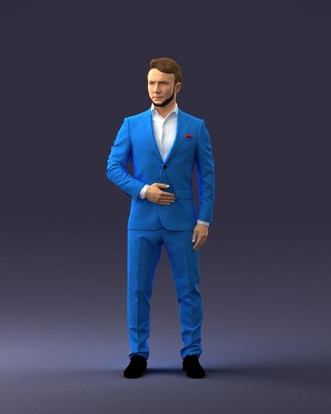 3D model body scan man fashion