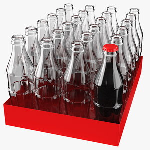 3D glass bottle pack