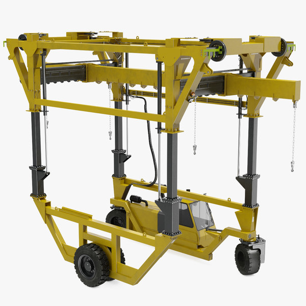 3D heavy duty straddle carrier
