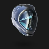 helmet space seraph 3D model
