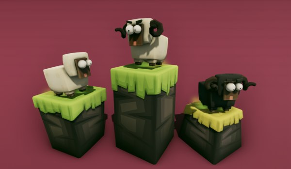 3D running sheep platform developers model