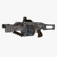3D sci-fi weapon type 1