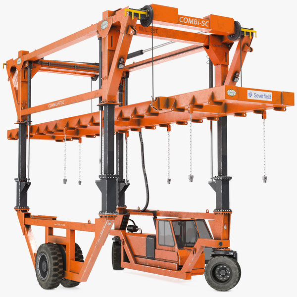 3D straddle carrier combilift sc model