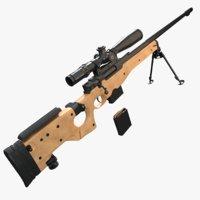 l115a3 sniper rifle 3D model