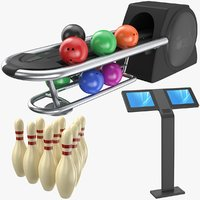 real bowling 3D model