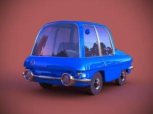 3D model 1960 car concept