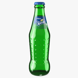 sprite glass bottle 3D model