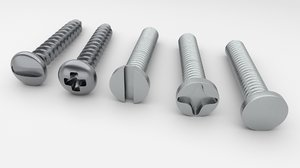 3D screw bolt model