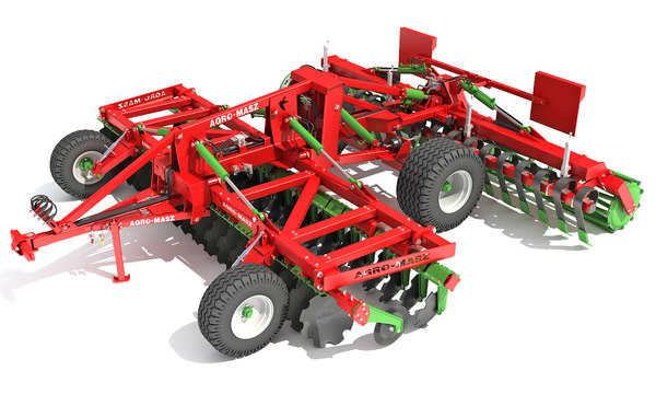 agro trailed disc harrow 3D model