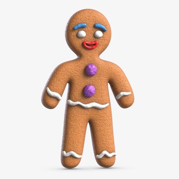 3D model gingerbread man 2