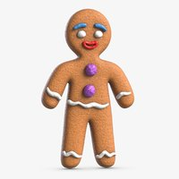 3D model gingerbread man 2