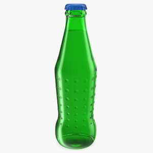 green glass bottle model