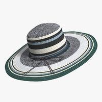 3D women foldable beach cap